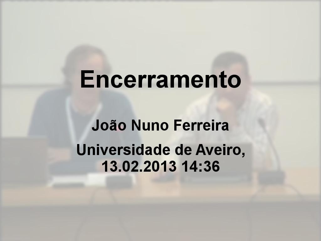 Jornadas FCCN 2013 - Encerramento