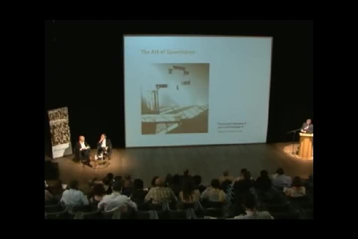 A arte da governança / orador: Daved Barry, com moderação de Delfim Sardo (Parte I)