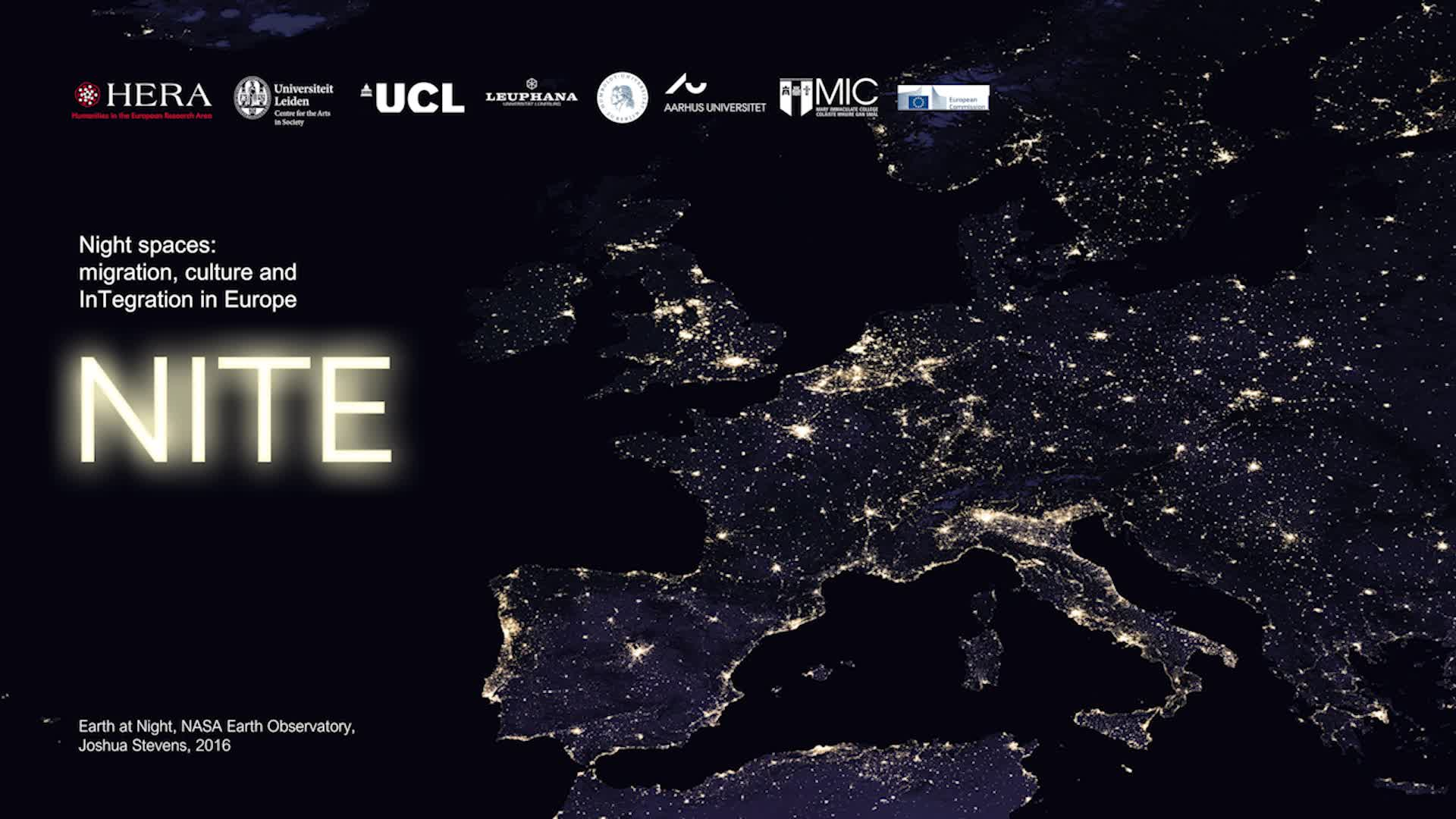 Night spaces: migration, culture and InTegration in Europe (NITE)