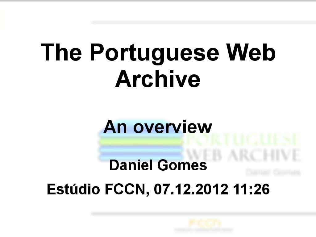 The Portuguese Web Archive: an overview