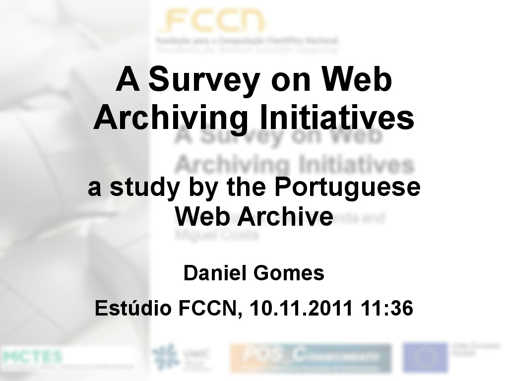 A Survey on Web Archiving Initiatives