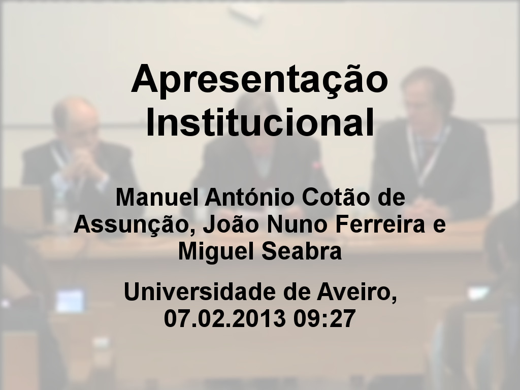 Jornadas FCCN 2013 - Apresenta��o Institucional