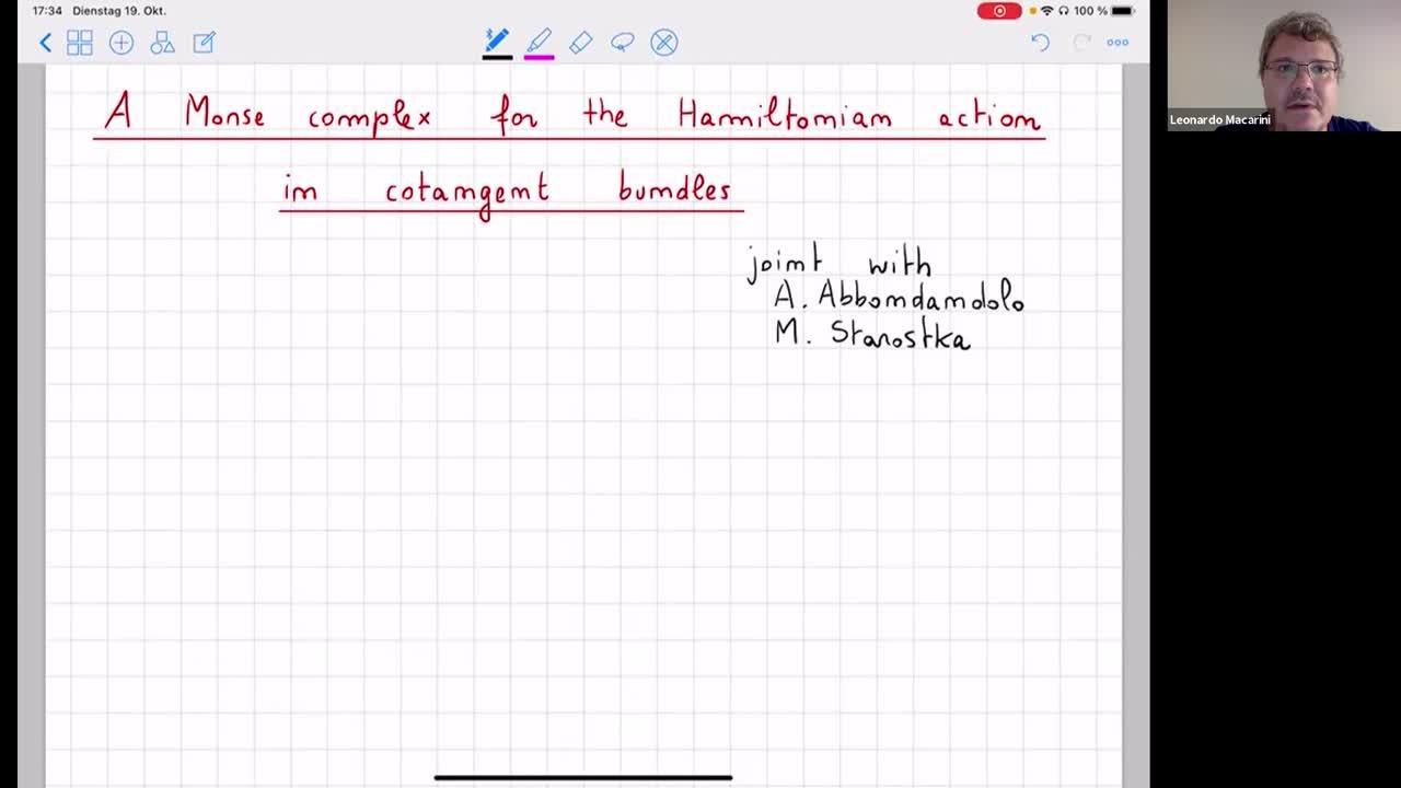 2021.10.19 A Morse complex for the Hamiltonian action in cotangent bundles