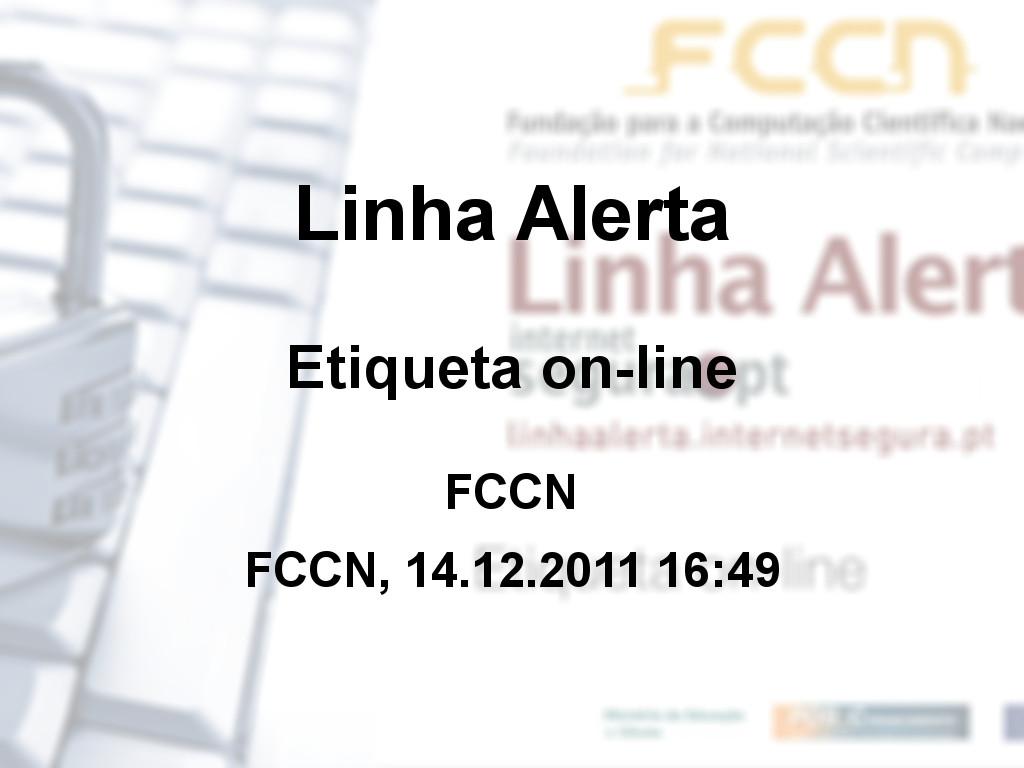 Linha Alerta - Etiqueta on-line