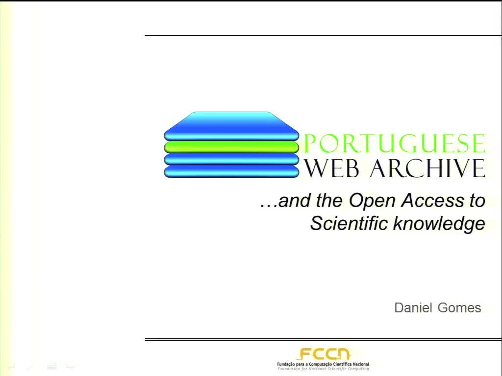 The Portuguese Web Archive and the Open Access to Scientific knowledge