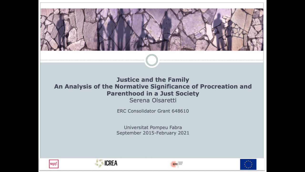 Justice and the Family. An Analysis of the Normative Significance of Procreation and Parenthood in a Just Society