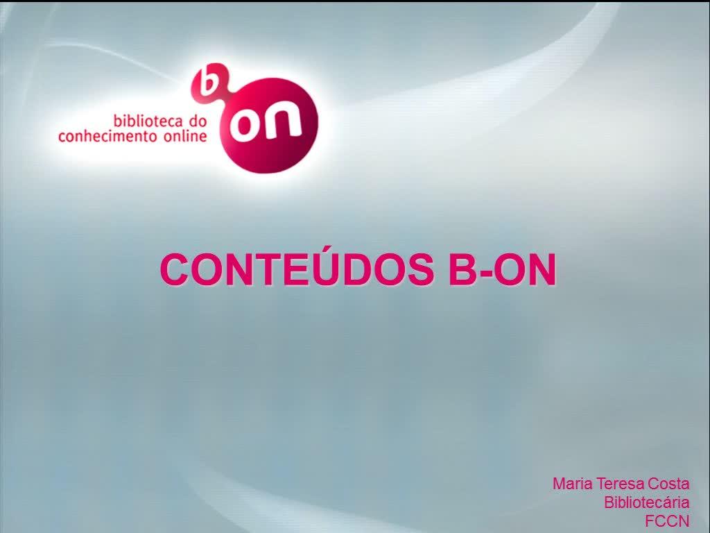 Biblioteca do Conhecimento Online - Conteúdos b-on