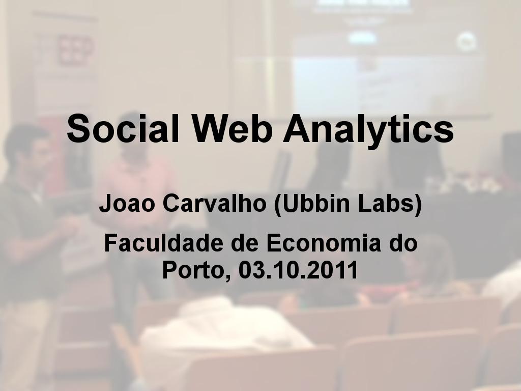 Social Web Analytics