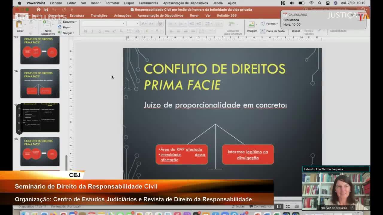 Seminário de Direito da Responsabilidade Civil (parceria CEJ/Revista de Direito da Responsabilidade)