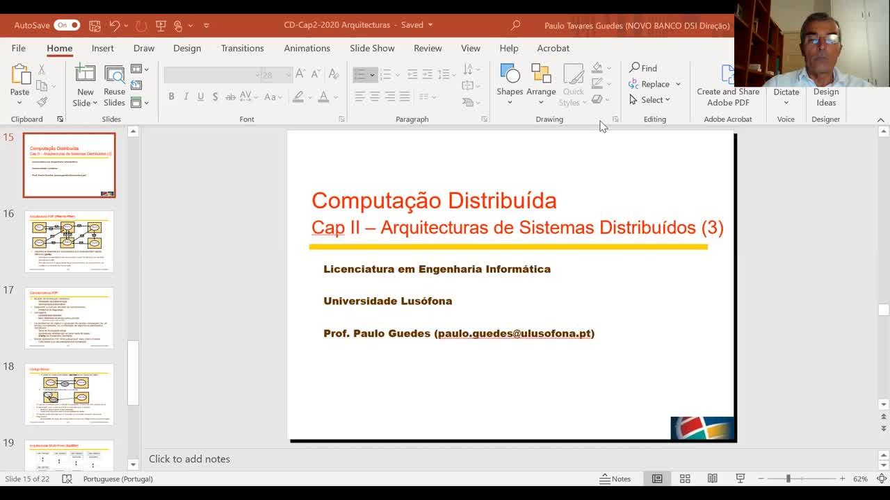 Aula 2 - Arquiteturas de Sistemas Distribuídos (video III)