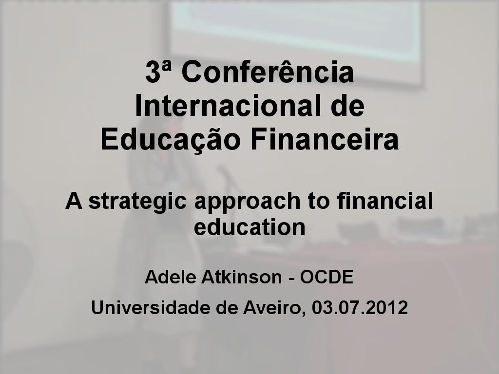 3ª Conferência Internacional de Educação Financeira