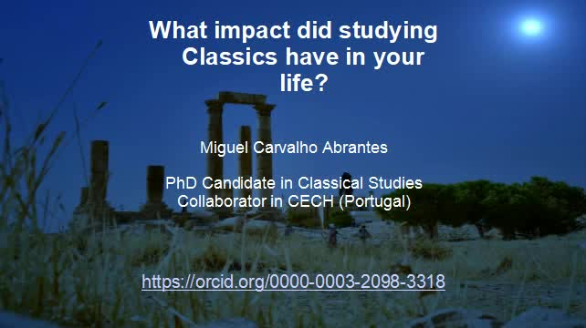 What impact did studying classics have in your live?