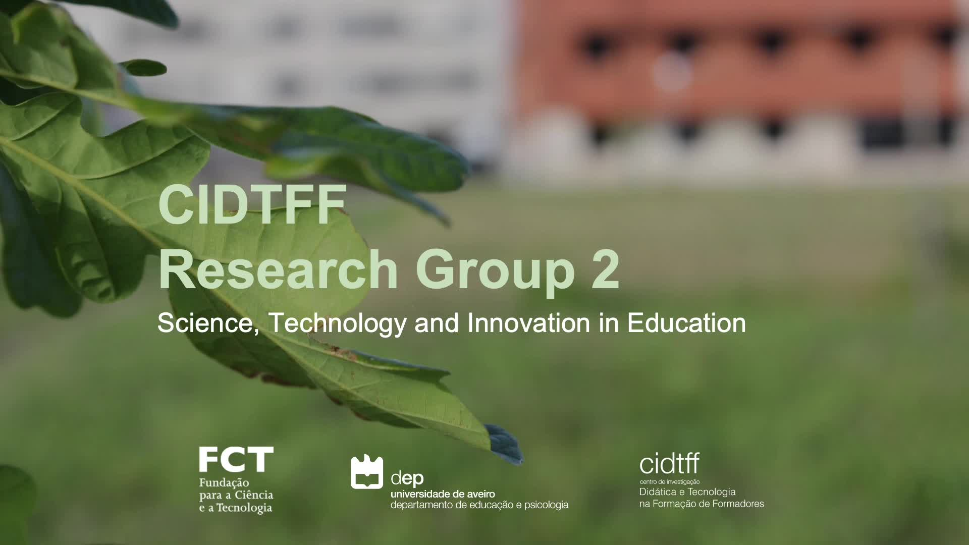 CIDTFF Research Group 2 - Science, technology and innovation in education